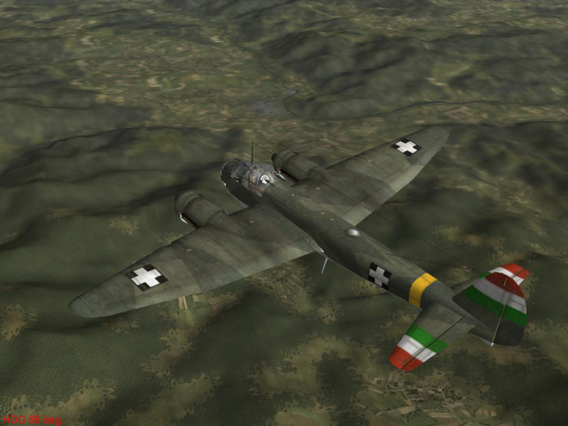 ju88a4 hun unmarked by-falkster2